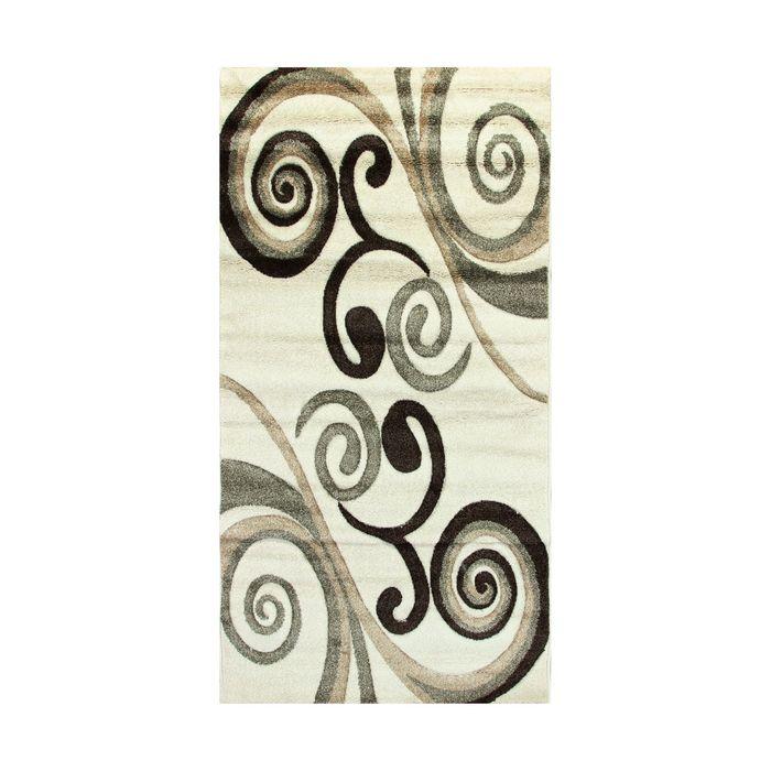 Прямоугольный ковёр Rio Carving 238, 100 х 200 cм, цвет cream - фото 7929037