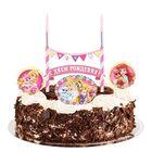 """Свеча в торт Дисней """"С Днем Рождения"""" 2 свечи, Принцессы: Ариэль, Аврора"""