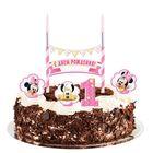 """Праздничный набор для торта """"1 годик"""" 2 свечи, Минни Маус, 12х20 см"""