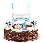 """Свеча в торт Дисней """"1 годик"""" 2 свечи, Микки Маус"""