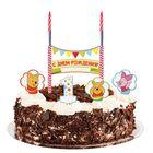 """Свеча в торт Дисней """"1 годик"""" 2 свечи, Медвежонок Винни и его друзья"""