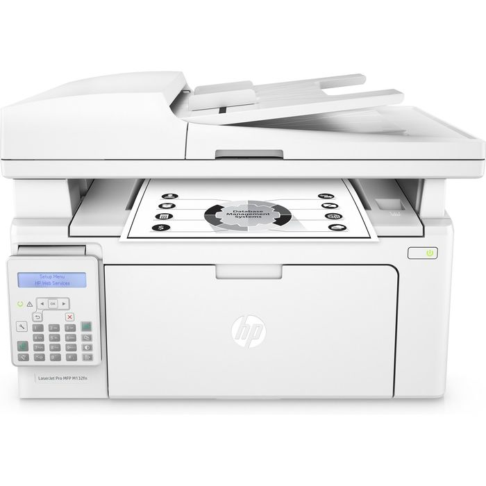 МФУ, лазерная черно-белая печать HP LaserJet Pro M132fn (G3Q63A) A4 Net