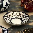 Тарелка круглая «Пахта в золоте», 13 см, белая