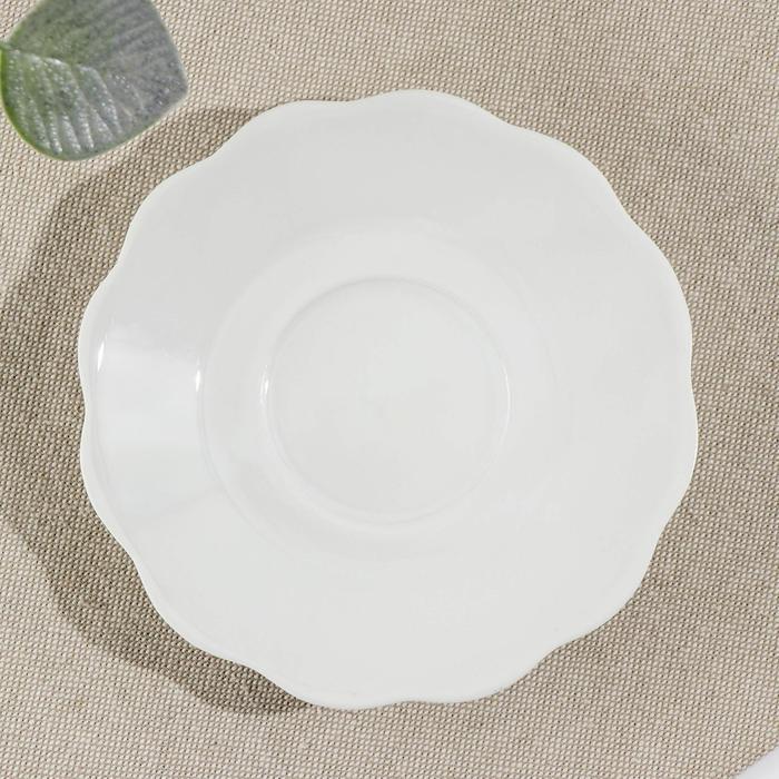 Тарелка d=12,5 см «Классика», цвет белый - фото 245300374