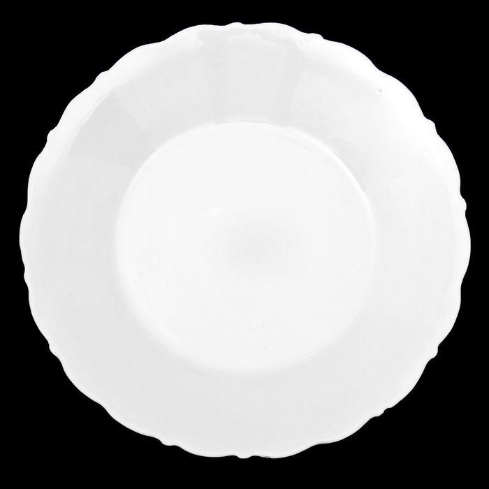 """Тарелка 16 см """"Классика"""", цвет белый"""