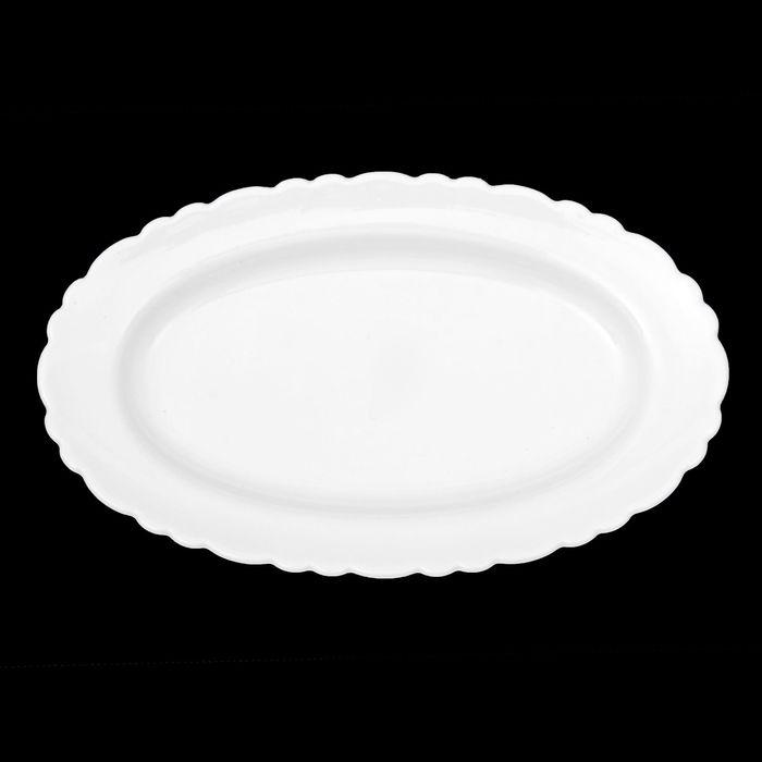 """Тарелка овальная 23 см """"Классика"""", цвет белый"""