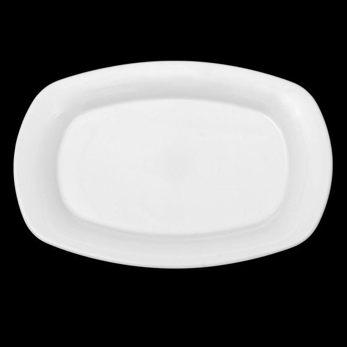 """Тарелка прямоугольная 27,5 см """"Классика"""", цвет белый"""