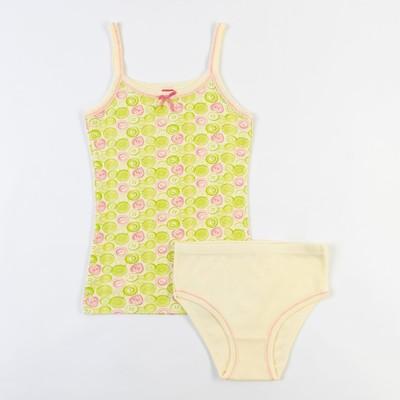 Комплект для девочки (майка, трусы), рост 140 см (72), цвет жёлтый