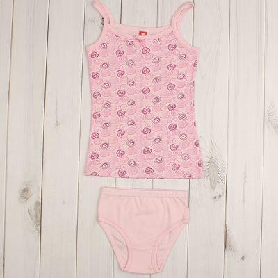 Комплект для девочки (майка, трусы), рост 146 см (76), цвет розовый