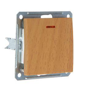 """Выключатель """"W59"""" SchE VS116-153-8-86, 16 А, 1 клавиша, скрытый, с индикатором, цвет бук"""