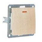 """Выключатель """"W59"""" SchE VS116-153-7-86, 16 А, 1 клавиша, скрытый, с индикатором, цвет сосна"""