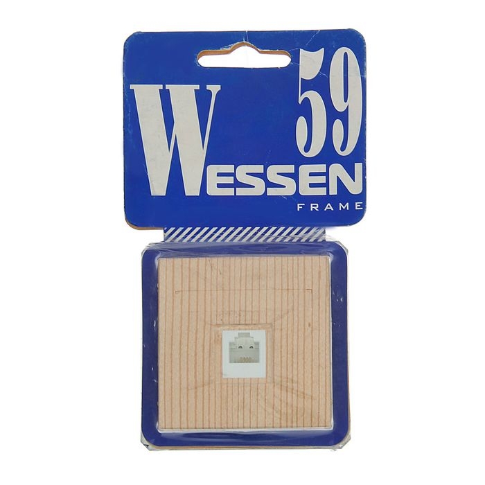 """Розетка  телефонная """"W59"""" SchE RSI-152T-7-86, RJ11, одноместная, скрытая, цвет сосна"""