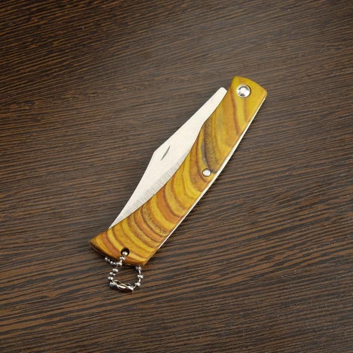 Нож складной неавтоматический, рукоять под дерево