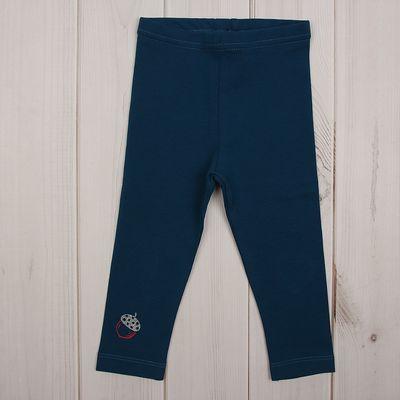 Брюки (Легинсы) для девочки, рост 80 см (52), цвет морская волна