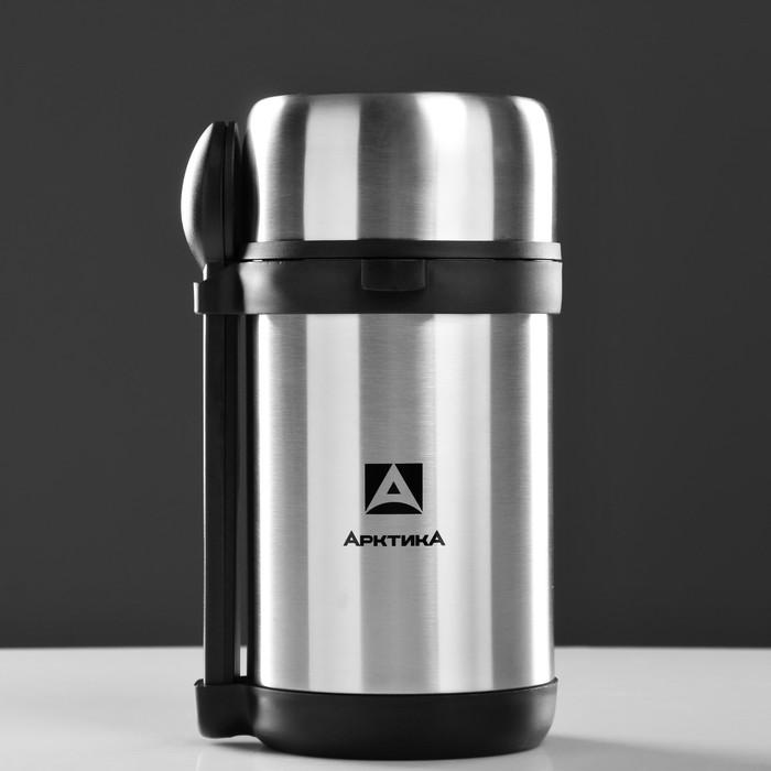 """Термос """"Арктика"""", 1.5 л, вакуумный, с 3-мя контейнерами , ложка, вилка"""