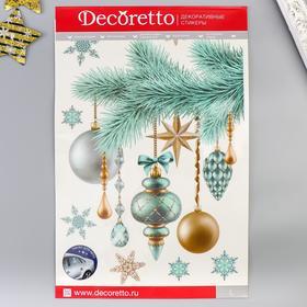 "Наклейки Decoretto  ""Украшенная елочка"" 35х50 см"