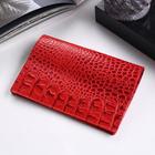 Обложка для паспорта, кайман, цвет красный