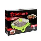 Сковорода электрическая Sakura SA-7708GR, 1500 Вт, 30х30 см, глубина 7 см - фото 894451