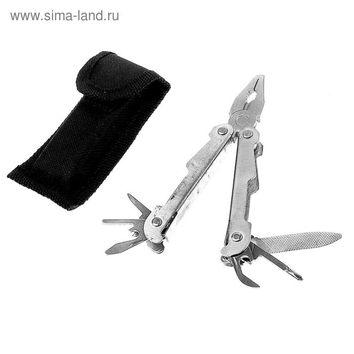 Инструмент многофункциональный 8в1, в чехле, металлик