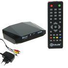 Приставка для цифрового ТВ D-COLOR DC705HD, FullHD, DVB-T2, HDMI, RCA, USB, черная