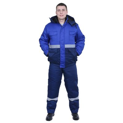 """Костюм """"Новатор"""", утеплённый, размер 52-54, рост 170-176 см, цвет сине-васильковый"""
