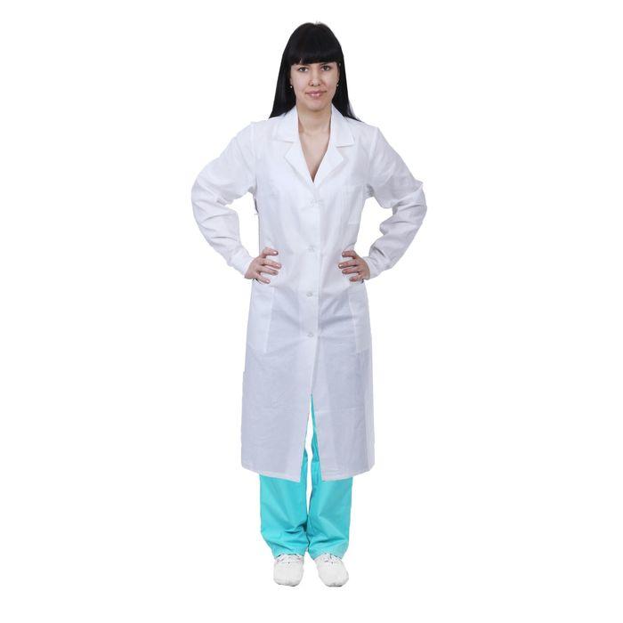 Халат медицинский женский, размер 52-54, рост 170-176 см, цвет белый