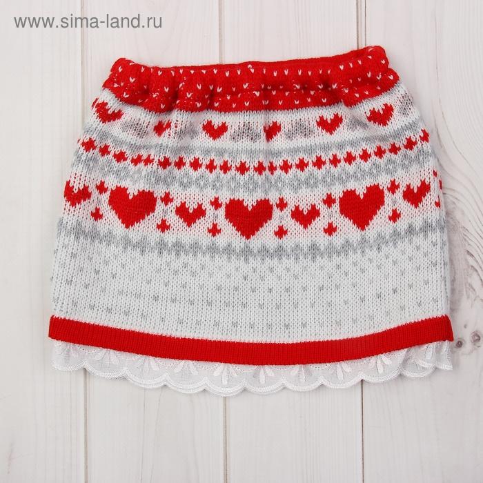 Юбка для девочки, рост 86-92 см, цвет красный 1648_М