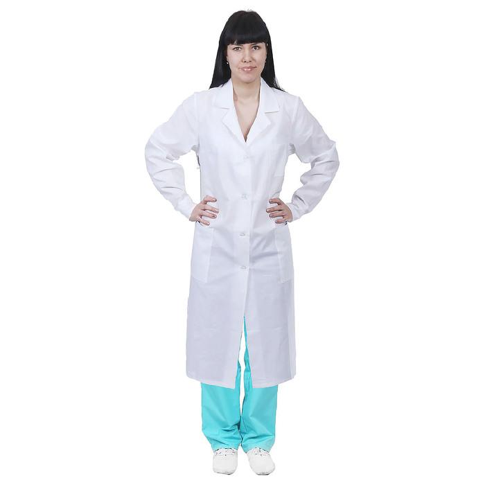 Халат женский медицинский, ГОСТ, размер 44-46, рост 158-164 см, цвет белый