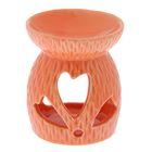 "Аромалампа керамика ""Тюльпан-сердечко"" МИКС 7,5х6,5х6,5 см"