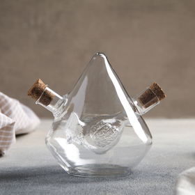 Бутыль «2 в 1» для соусов и масла «Птица», 350/30 мл, 12×10×11 см