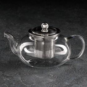 Чайник заварочный «Калиопа», с металлическим ситом, 600 мл