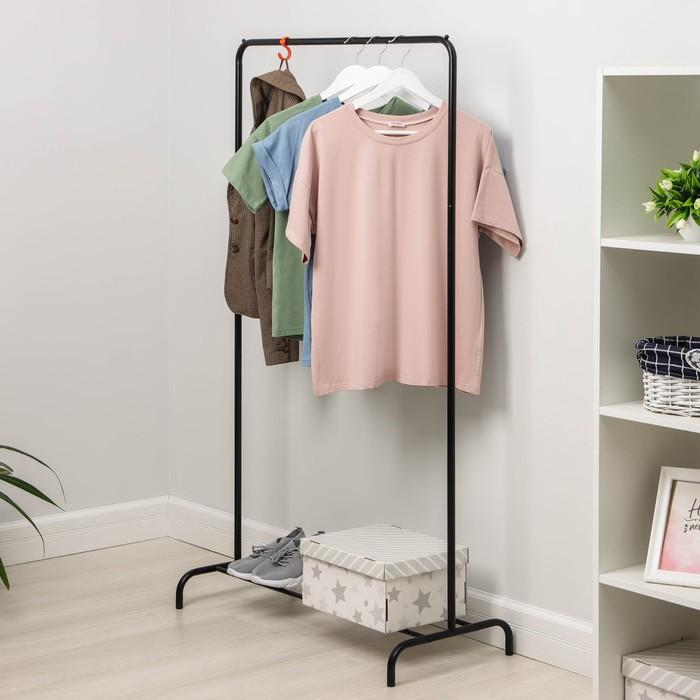 """Вешалка гардеробная 82×39×150 см """"Радуга"""", цвет чёрный"""