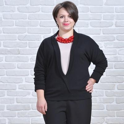 Кардиган женский 5550 цвет черный, р-р 52, рост 164 см