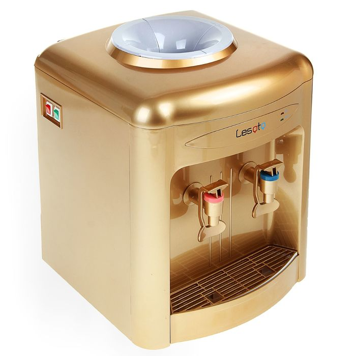 Кулер для воды Lesoto 36 TD, с охлаждением, 500 Вт, цвет золото