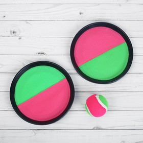 """The game """"Plate-Velcro"""", a set of 2 plates + ball"""