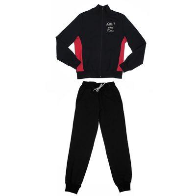 Костюм спортивный для девочки, рост 122 см (64), цвет чёрный/малиновый 33-КД-28Ш