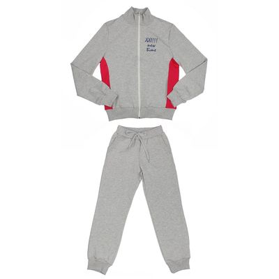 Костюм спортивный для девочки, рост 158 см (80), цвет серый/малиновый 33-КП-28Ш