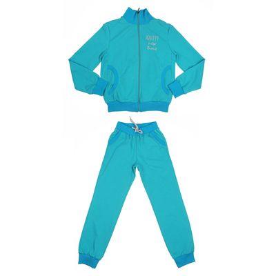 Костюм спортивный для мальчика, рост 140 см (68), цвет бирюзовый 33-КД-04Ш