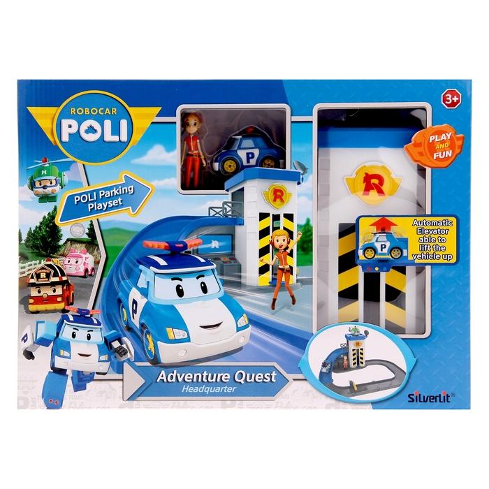 Набор игровой «Подъёмник с металлической машинкой Поли и фигуркой Джин»