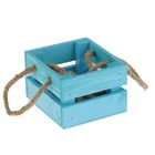 Ящик реечный, ручка- шнур, голубой, 13х12,5х9см