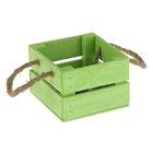 Ящик реечный, ручка- шнур, зелёный, 13х12,5х9см