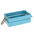 Ящик реечный, ручка- шнур, голубой, 24,5х13х9см