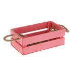 Ящик реечный, ручка- шнур, розовый, 24,5х13х9см