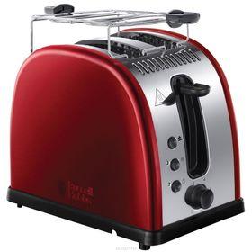 Тостер Russell Hobbs 21291-56, 1300 Вт, 2 тоста, функция размораживания, красный