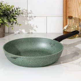 Сковорода 26 см «Мраморная», съёмная ручка, цвет фисташковый