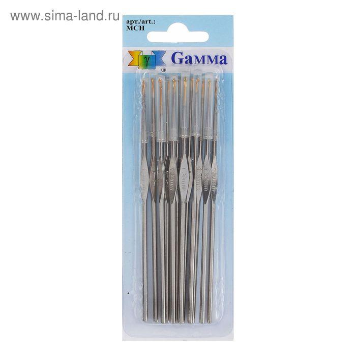 Крючки для вязания металлический, MCH, d=1,3мм, 12см, набор 12шт