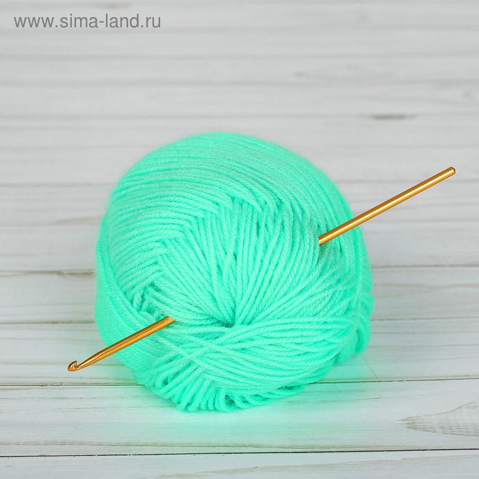 Крючок для вязания металлический, CH-15, d=3мм, 15см, цвет жёлтый
