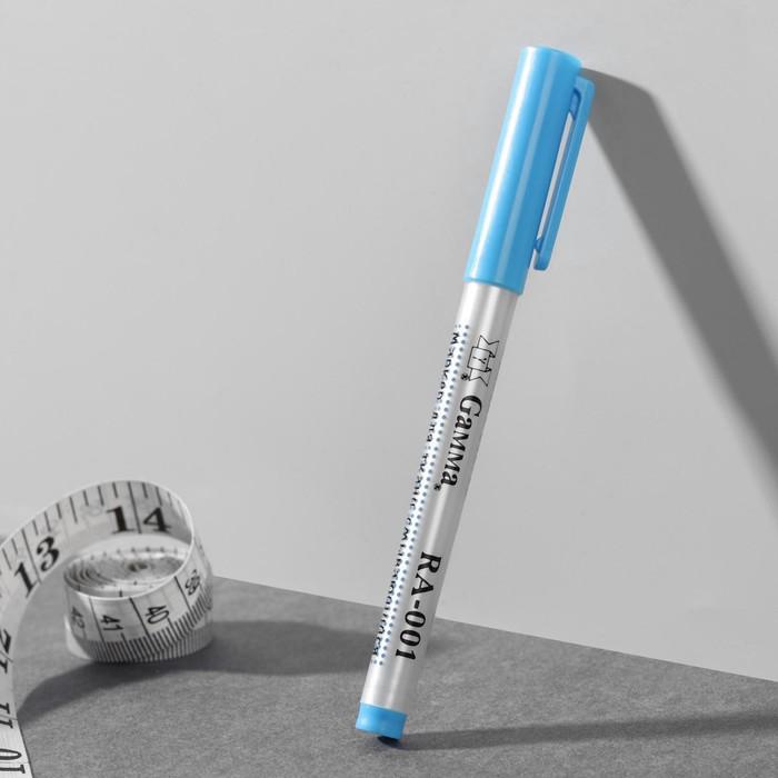 Маркер для ткани, смывающийся, цвет голубой