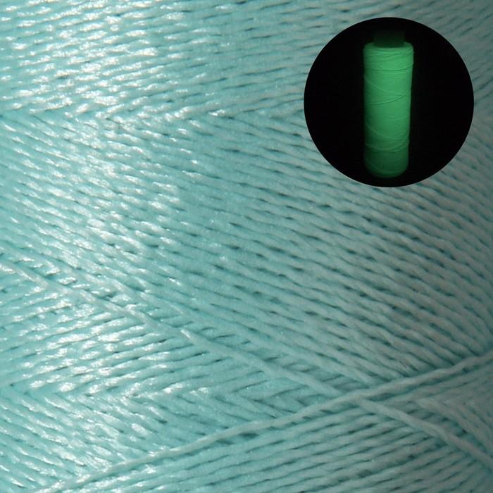 Нитки для вышивания люминесцентные, №7, 183м, цвет голубой