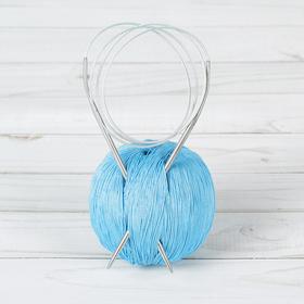 Спицы для вязания, круговые с металлической леской, d=3,5мм, 100см Ош